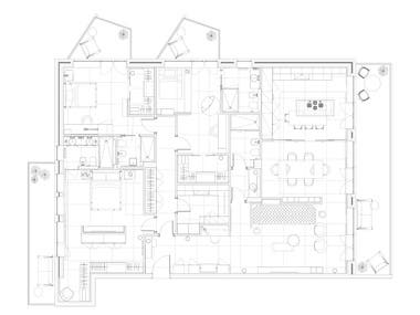 Floor plans and technical drawings