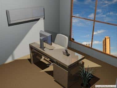 3D Render of office