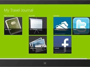 Windows 8 App Screen