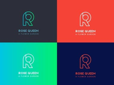 Logo Design for Rose Queen Garden