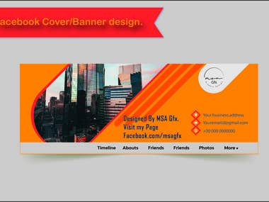 Professional Facebook cover/banner design