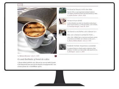 Wordpress news blog