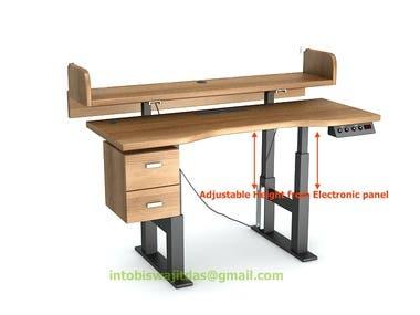 3D model of a standing desk