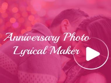 Anniversary Lyrical Video Maker - Video Maker