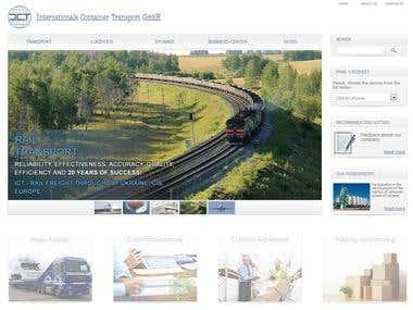 Logistics company site