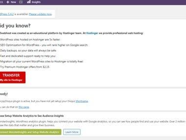 WordPress Back-End Setting