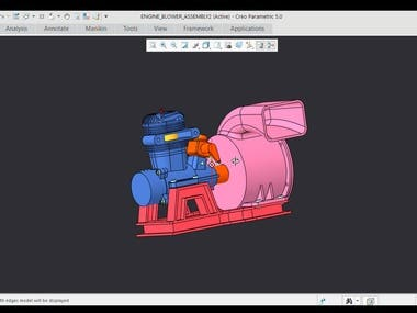 3D Model of Engine Blower