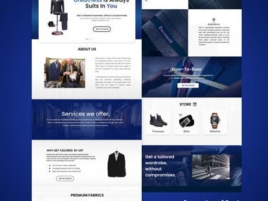 Tailor Page Design