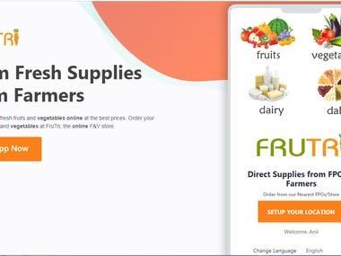 Vegetable order app - Like Big basket