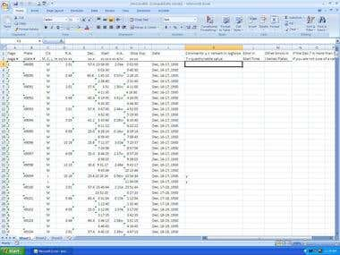 Data Entry from Scanned Logbook
