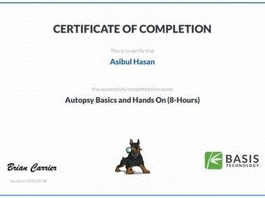 Digital Forensic Certification