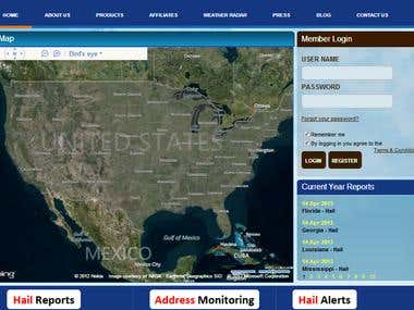 Weather Forecast System & Google Map Integration