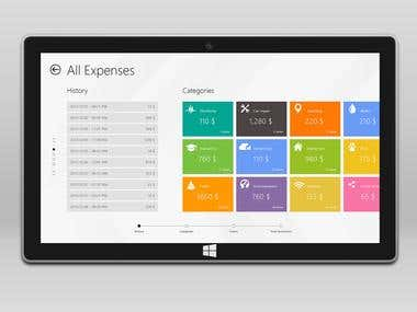 Win 8 App  - Flat / Metro Hybrid style