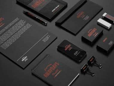 Envelope, Letter Head, Business Card, Book Cover Design