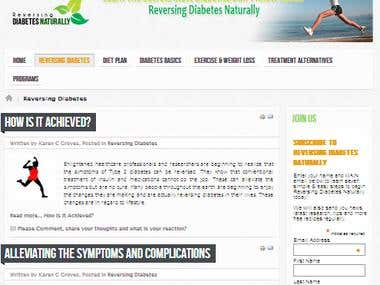 WordPress - Reversing Diabetes Naturally - Blog