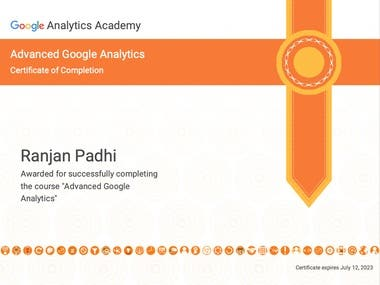 Google Advance Analytics Certified