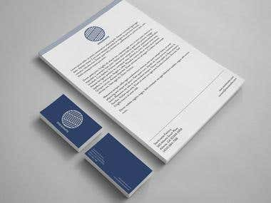 Product Level Design, Letter Head, envelope, business card