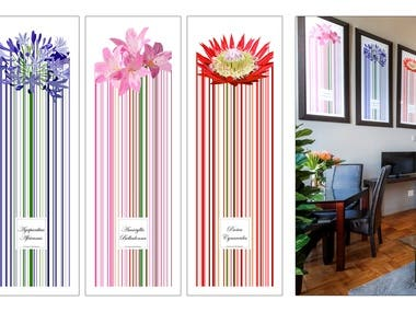Floral Posters for Apartment Interior