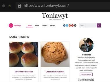 Food Blogging Website