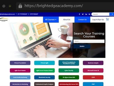 BrightEdgeAcademy - Education Website