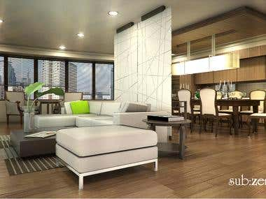 3D Interior Design modeling and rendering