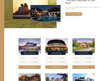 Home Real Estate Website