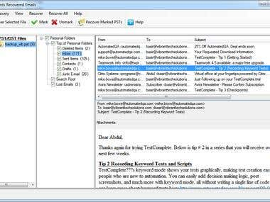 Windows Email Extraction from broken File System or Disk