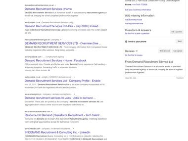 Rank Business Website to page#1 in Google Search Results