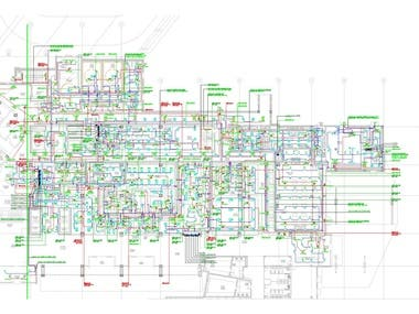 Electrical Lighting & power layout_Shop Drawing