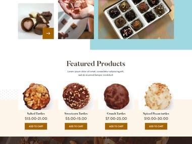 chocolate shop WooCommerce