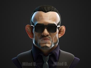 3D Modeling and render Character Tony Ferguson UFC