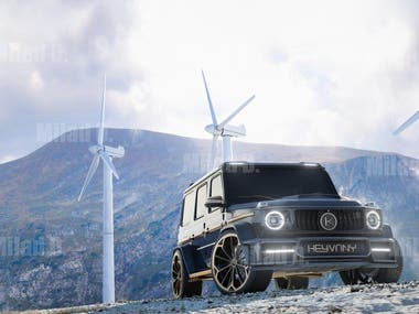 3D Modeling and Animation of Mercedes-Benz G-Class