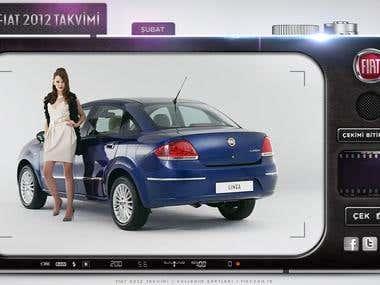 Fiat 2012 Calendar Shoot