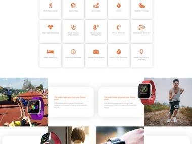 Responsive Watch E-commerce website