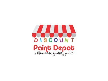 ''Discount Paint Depot'' Logo Design