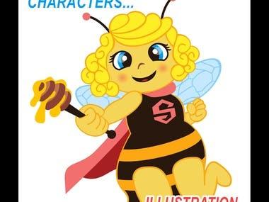 Characters illustration /Ilustración de personajes