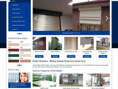 Shutter Company Website
