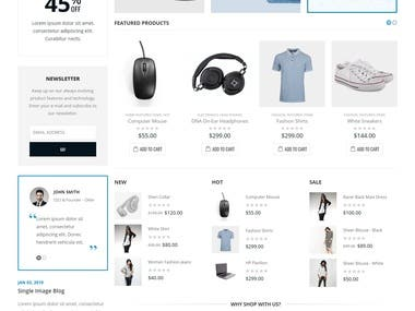 Porto WordPress (WooCommerce) theme Customization