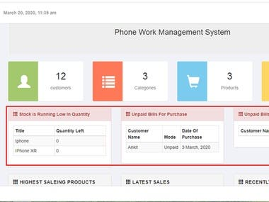 Back-end Standalone System Supporting inventory, Billing etc