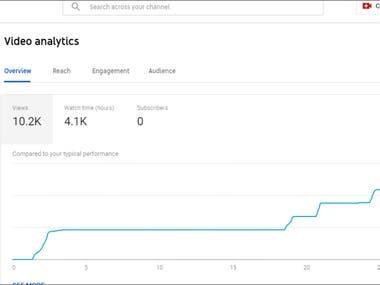 YouTube views Increasing