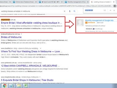 SUCCESSFULLY ACHIEVED GOOGLE FIRST PAGE RANK- #Google.com.au