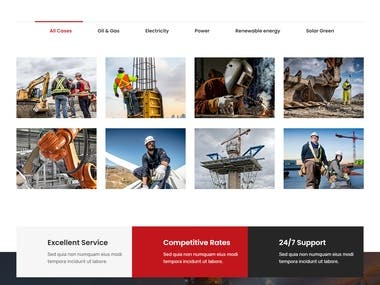 Website designing for Power Supply Company