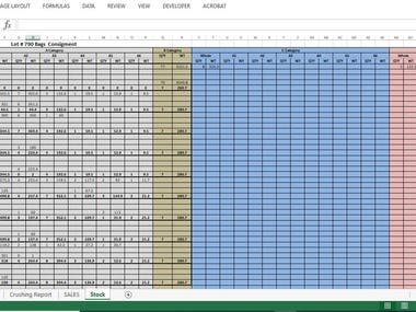 Excel Inventory Track Record