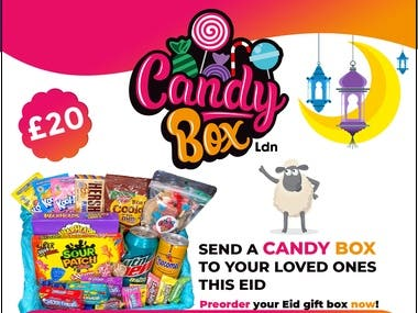 Candy Box Instagram poster design