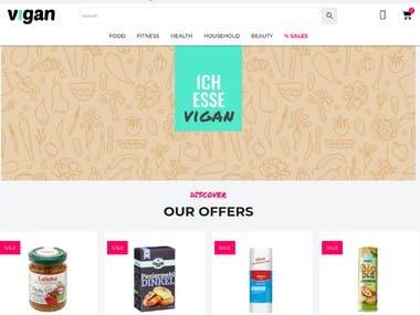 Vegan Shop site with Wordpress & Woocomerce