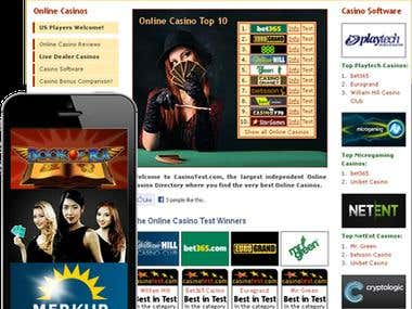 Online Casino Review Website