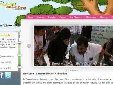 Tween Motion Animation Studio Website