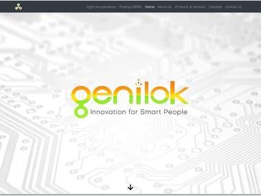 Desgined and developed genilok.com