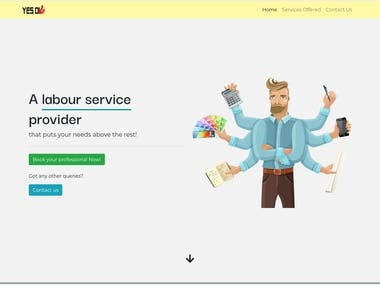 Designed and Developed website for Labour service firm
