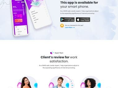 Landing Page For Apps Development